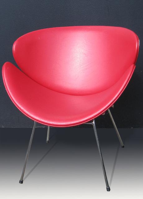 Lip Chair Red Vinyl X 2
