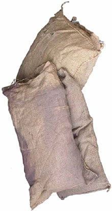 Sandbags (fake  filled with cotton) [x = 50]