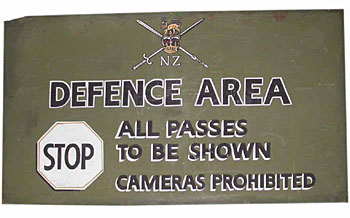 Sign Defence Area (H100 cm x W180cm)