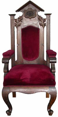 Judges Throne  (H154cm x W70cm x D65cm)