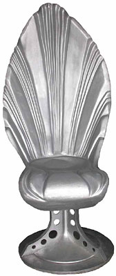 Silver Shell Throne - Space (H155cm x L80cm x W70cm) [x= 2]