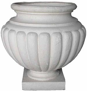 (m) Urn Plastic White Large (55cm high) [x=2]