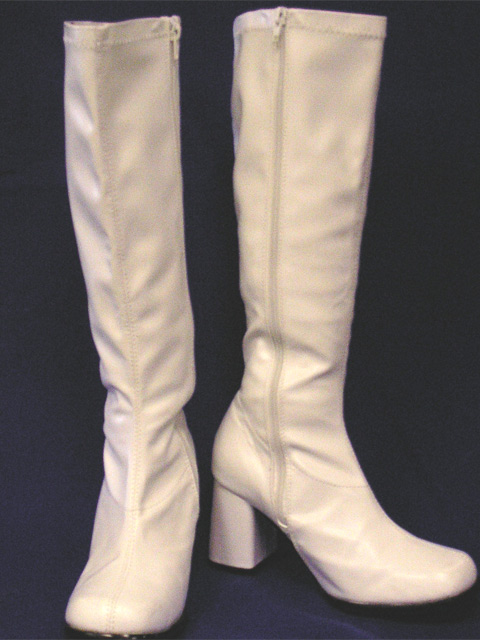 White Knee High Boots - First Scene
