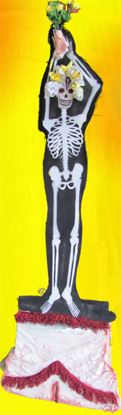 Cutout Day Of The Dead Skeleton (2.2 m) ( 4 available)