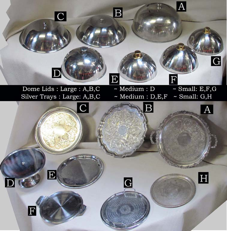 Assorted Closhes/Dome Lids & Trays