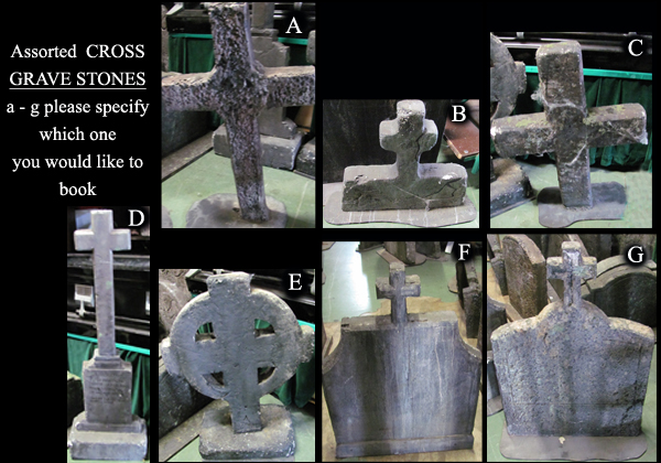Gravestones Assorted Cross (H0.7 - 1.4m) [x=7]