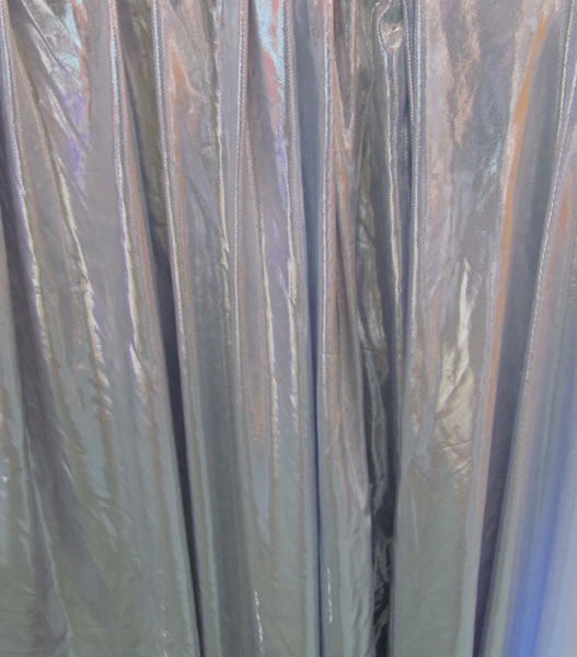 Curtain metallic silver x 3m first scene nz 39 s for Space fabric nz