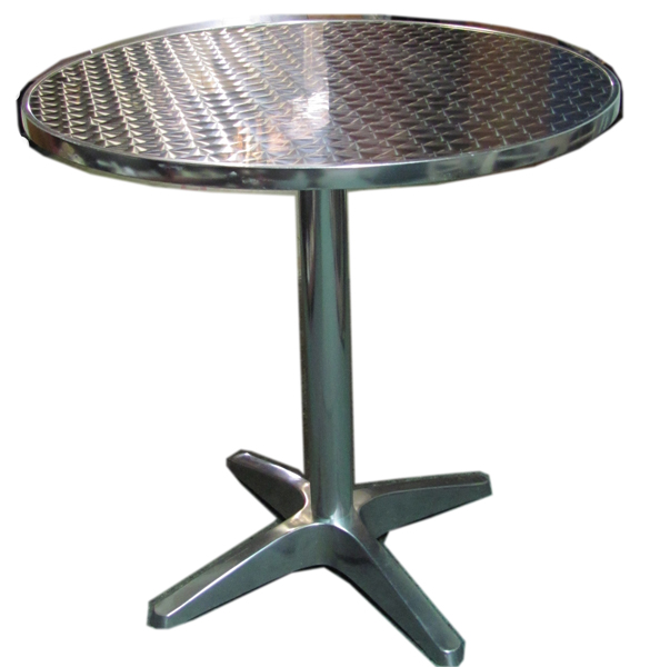 Table Dining 013 Silver Cafe Table Holographic (H73cm  Dia72cm) [x=6]