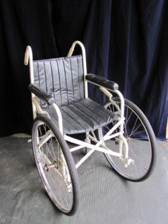 Wheelchair (b) Black Vinyl Big Front Wheels