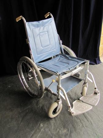 Wheelchair (e) Modern Blue Vinyl