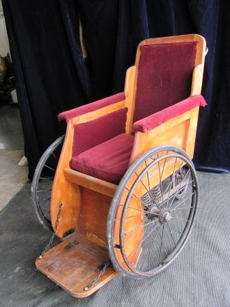 Wheelchair (i) Solid Wood Frame Purple Seat