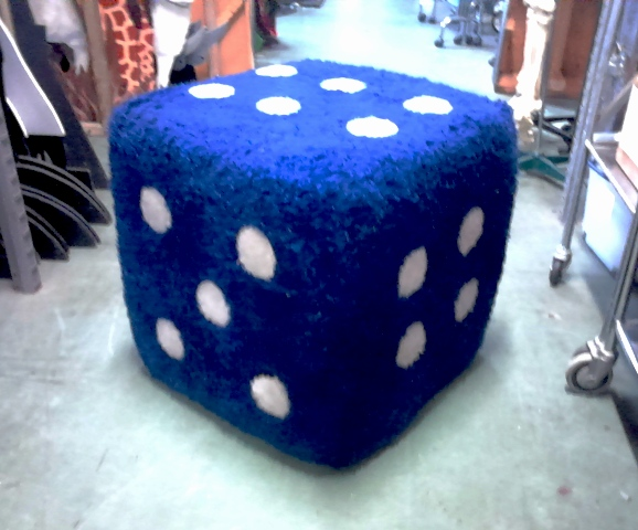 Fluffy Die / Dice  Blue (0.6m x 0.6m x 0.6m)