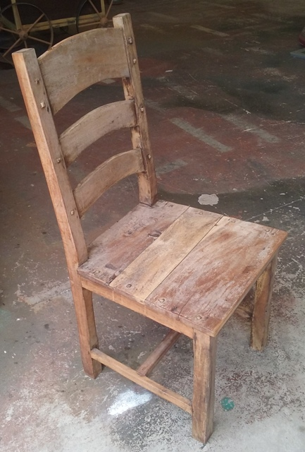 Chair Wooden Heavy Medieval 1m x 0.45 x 0.42 (2 in stock)