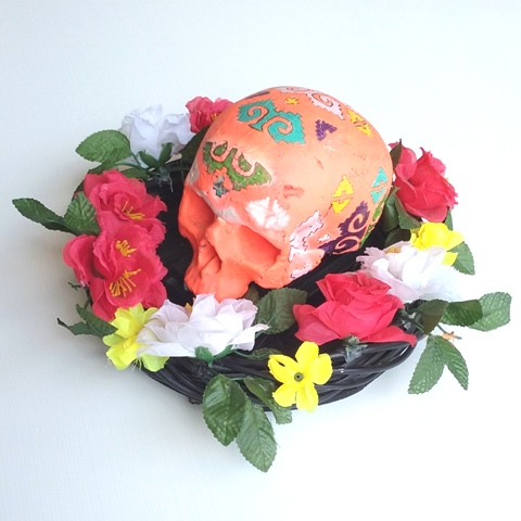Day Of The Dead Skull Orange