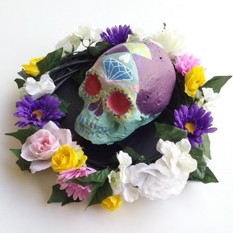 Day Of The Dead Skull Green