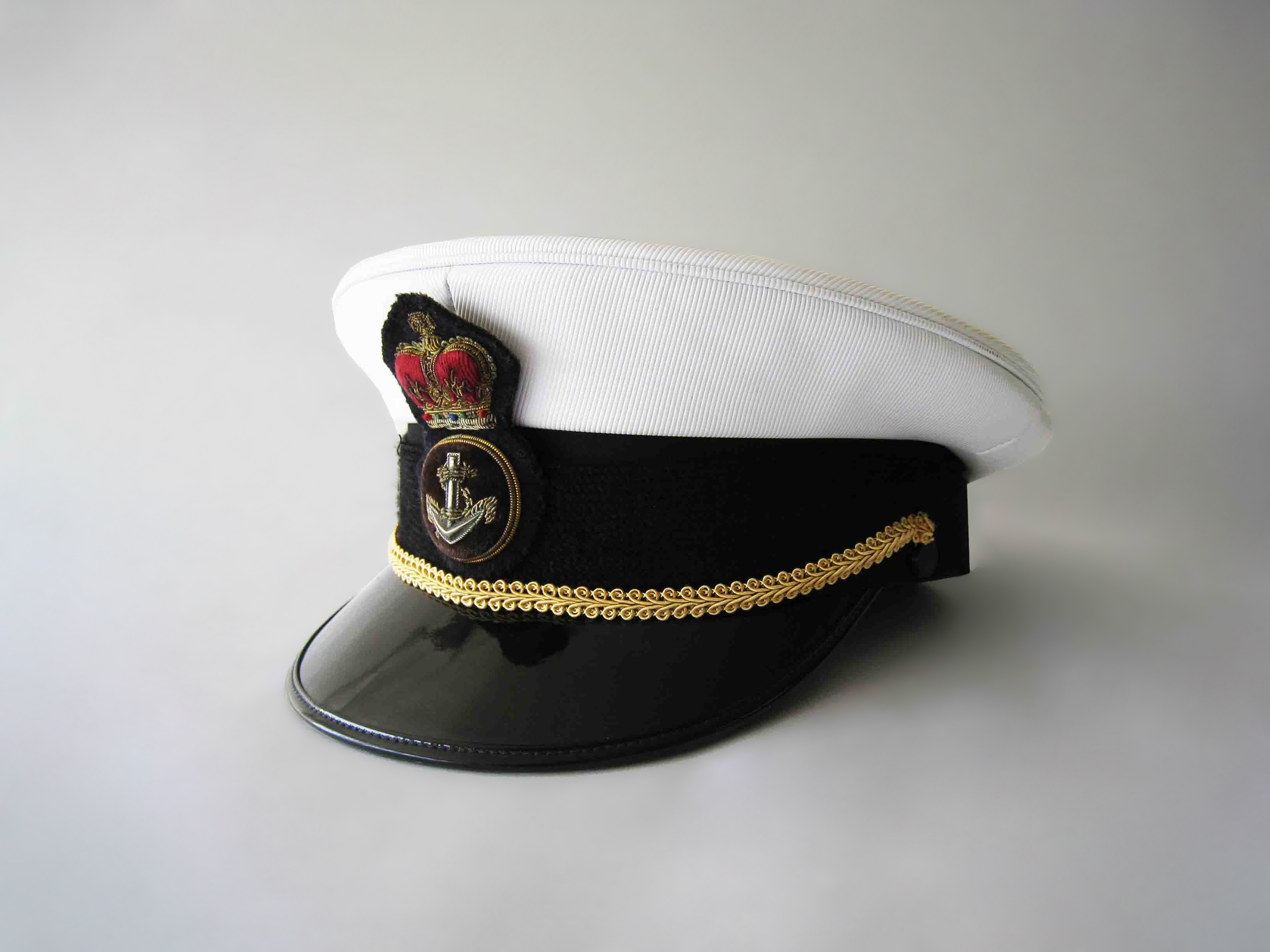 Navy White Peaked Hat