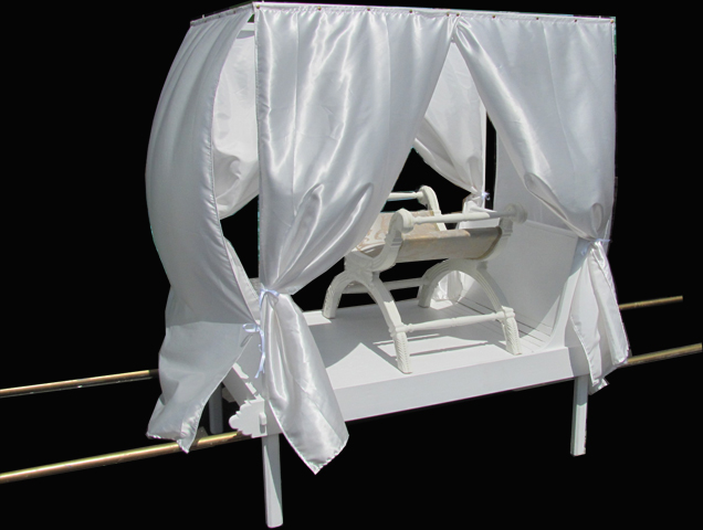 Palanquin (Interchangeable Cushions/Thrones/Drapes) 0.9m x 1.51m x 1.7m)