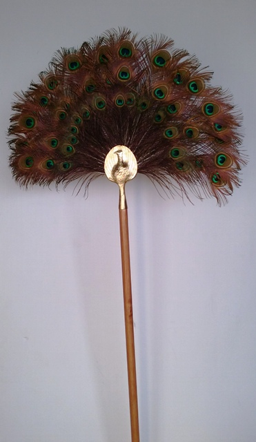Peacock Feather Fan Stands 2.2m (2 available)