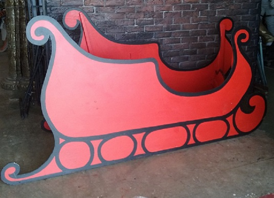 Santa Sleigh Red/Black (1.2m x 2.4m x 0.86m)
