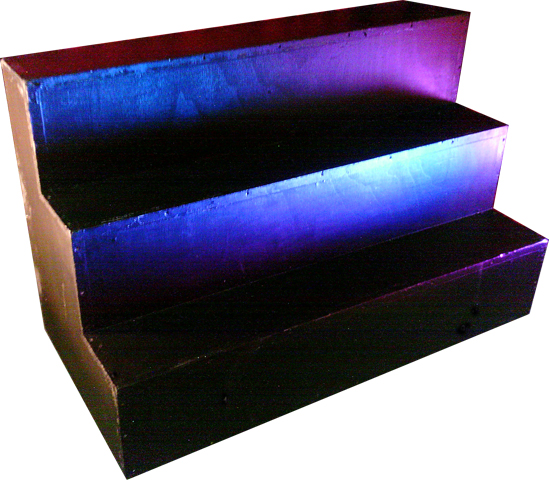 Stage Box #08 Staging Steps Black (H60cm x W120cm x D76cm) (step H25cm x D20cm)