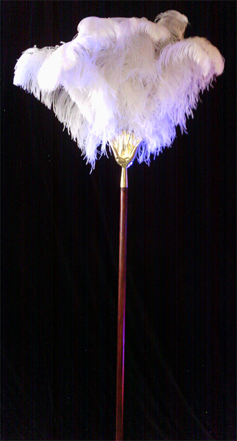 Feather Fan White Ostrich Feathers