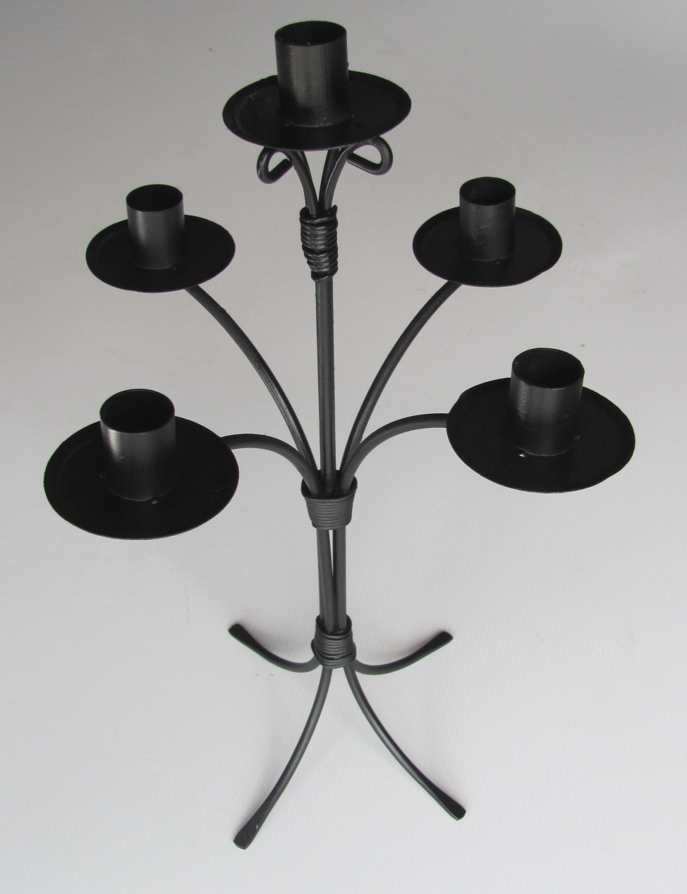 Table Candelabra Black Candlestick 5 pt (0.4 m) 25 available