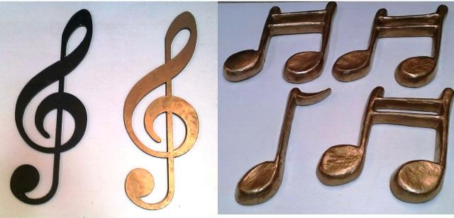 Musical Notes (Paper Mache or Wooden)